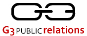 Logo for G3 Public Relations